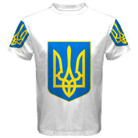 New UKRAINE Ukrainian coat of arms Sublimated Men's Sport Mesh Tee t shirt S-5XL