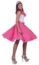 Bristol Novelty AC049A Rock N Roll Skirt Pink Size 10 - 14