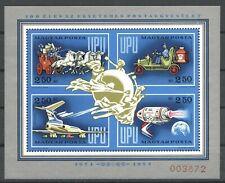 100 Jahre UPU - Ungarn - Bl. 106 I ** MNH 1974
