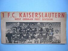 1979 BC SELECTS 1 FC KAISERSLAUTERN SOCCER FOOTBALL POSTER VANCOUVER WHITECAPS