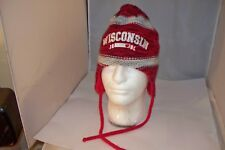 UW Wisconsin Badgers WOMENS Red Knit Helmet Hat