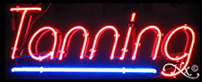 "BRAND NEW ""TANNING"" 32x13 UNDERLINE REAL NEON SIGN w/CUSTOM OPTIONS 10172"
