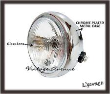 """*YAMAHA RD50 RD60 DT80 GT1 GT50 GT80 YB80 YG5 YL2G HEAD LAMP 6V + CASE 6"""" [V]"""