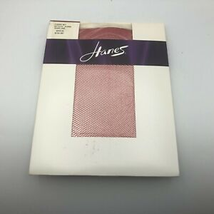 NOS 2004 Hanes Fishnet Pantyhose Classic Net Size AB A356 Brick Red  T2