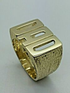 9ct Yellow Solid Gold 'DAD' Ring