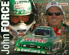 2007 John Force Castrol Ford Mustang Funny Car NHRA postcard