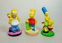 Simpsons 3 Figuren 1998 Fox BIP Holland Homer Bart Skateboard Marge Lisa