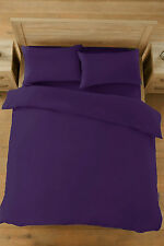 QUALITY PERCALE PLAIN DUVET QUILT COVER & PILLOWCASES BED LINEN BEDDING SET