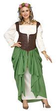 Womens Medieval Renaissance Oktoberfest Bar Wench Maiden Dress Costume