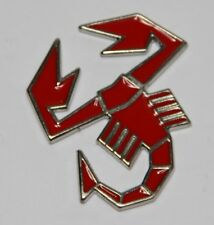 CLASSIC VINTAGE ABARTH LOGO EMBLEM LACQUERED METAL SCORPION BADGE RED BRAND NEW