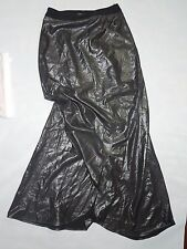 Express long open front maxi shimmer Black Skirt size 2