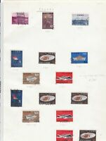 Japan stamps on album page Ref 9869