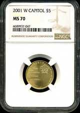 2001-W $5 Capitol Visitor Center Gold Commemorative MS70 NGC 4689937-047
