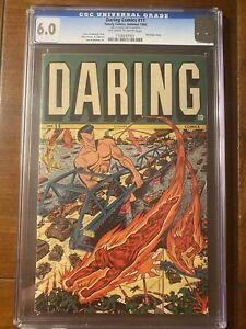 DARING COMICS #11 1945 TIMELY CGC 6.0 OW/W SCHOMBURG COVER RARE and SUPER Nice!!