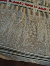 Vintage Bates bedspread Western Cowboy Rodeo Bronco 1950's twin, woven cotton