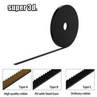 3D Printer Rubber//PU Steel Wire GT2 6mm/&10mm Open Timing Belt GT2 Pulley