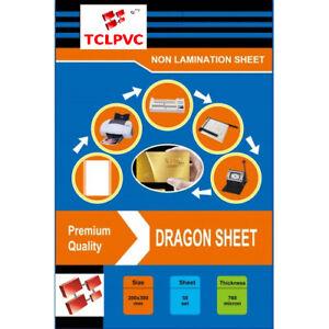 TCLPVC Dragon Sheet Pvc ID Card Identity Card Plastic Sheets HD 50+100 Sheets A4