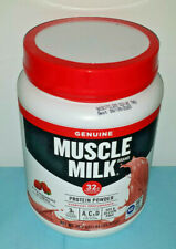 Muscle Milk Genuine Protein Powder, Strawberries n Cream, 1.9 Lb Tub Exp 09/2020