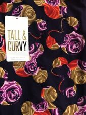 Lularoe TC Tall Curvy Leggings Solid Purple Gold Disney Floral Hawaiian 🦄 New