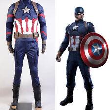 Avengers Captain America:Civil War Steve Rogers Cosplay Costume Men Army Suit