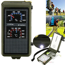 10 in 1 Multifunction Outdoor Survival Military Camping Hiking Compass Tool Kit
