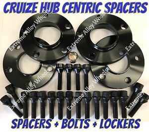 ALLOY WHEEL SPACERS 12mm / 15mm BMW 1 2 3 4 5 SERIES M14X1.25 & LOCKERS CRUIZE