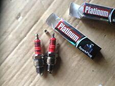 Spark Plugs Ural, Dnepr, K750, M72, IZh moto. Brand Platinum E6TC. Set=2pcs.