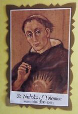Saint Nicholas of Tolentino Scalloped Prayer Card, From Italy