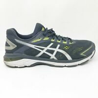 Asics Mens GT 2000 7 1011A158 Tarmac Lemon Spark Running Shoes Lace Up Size 11