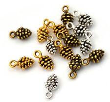 20/100Pcs Charms pine cone 14mm Antique alloy pendant Vintage Tibet Silver Gold