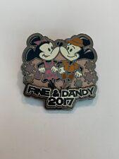 Disney Parks FINE & DANDY 2017 Mickey and Minnie LE 5000 Disney Pin (B1)