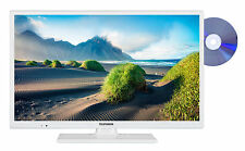 Telefunken XH24D101D-W Fernseher mit DVD-Player 24 Zoll HD TV Triple-Tuner CI+