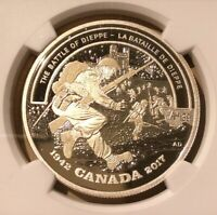 2017 Canada $20 Battle of Dieppe NGC PF 70 Ultra Cameo - Silver - WWII Top Pop!