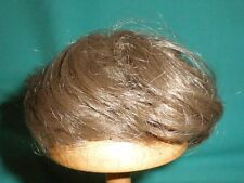 """doll wig light brown 6"""" to 6.5"""" short haircut/1950s/vintage/Germany"""