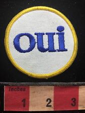 Word Patch - OUI ( Yes ) French Fun Jacket Patch  72YB