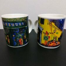 STARBUCKS COFFEE CUP SET OF 2 VINTAGE VINCENT VAN GOGH SEATTLE COLLECTIBLE RARE