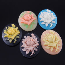 8pcs Mixed Resin vintage style elliptic flower cameo cabochon  39*29mm 09479