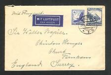 Germany cover sent by air mail to England in 1935 c598