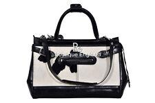 New Ladies Stylish Gladstone Bag Black COW Fur Real Cow Leather Hand Bag