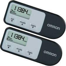 NEW (2 PACK) Omron Pedometer 7 Day Memory Track Steps