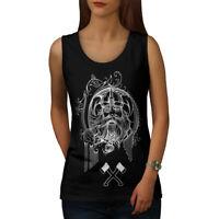 Wellcoda North Face Warrior Womens Tank Top, Battle Athletic Sports Shirt