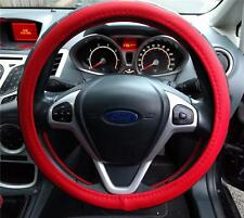 Steering Wheel Cover Red / Black Soft Leather Look Easy Fit Replacement