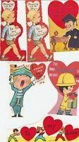 Vintage Valentines Lot of 10 Boy Cards Die Cut for Children