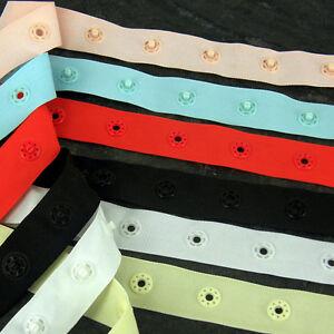 Popper tape, White or Black, Stud, Press, Snap Fastening  Single spacing