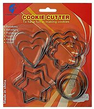 cookie  cutters stainless steel stars cake decorations baking 3x4 shape 12pcs