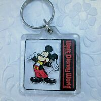Walt Disney World Mickey Mouse Acrylic Key Chain Vintage Collectible