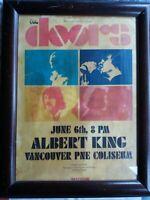 The Doors Locandina Concerto in Vancouver w Albert King 1970