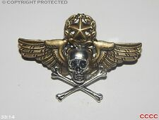 steampunk brooch badge skull & crossbones wings star wreath pirate Black sails