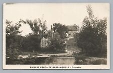 Barranquilla Wooden House RPPC Antique COLOMBIA Country Photo Foto Tarjeta 1