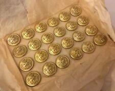Gaunt Card 24 South Africa African Navy 22mm Gold Gilt Buttons Uniform Anchor